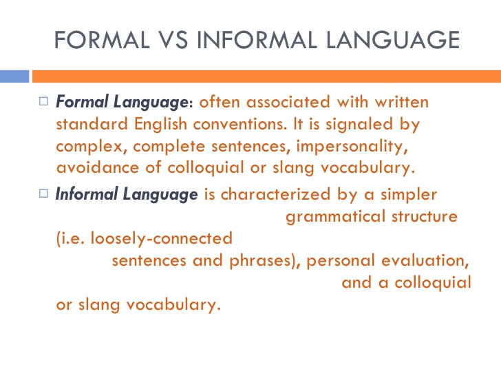 informal definition examples in technical writing